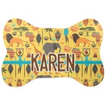 African Safari Bone Shaped Dog Food Mat (Personalized)