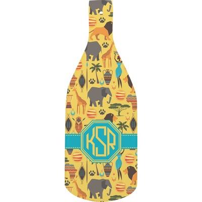 African Safari Bottle Shaped Cutting Board (Personalized)