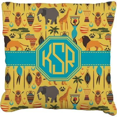 African Safari Faux-Linen Throw Pillow 26