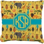 African Safari Faux-Linen Throw Pillow (Personalized)