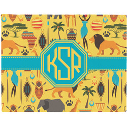 African Safari Woven Fabric Placemat - Twill w/ Monogram