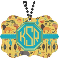 African Safari Rear View Mirror Charm (Personalized)