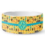 African Safari Ceramic Dog Bowl (Personalized)
