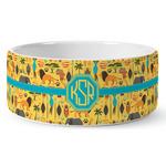 African Safari Ceramic Pet Bowl (Personalized)