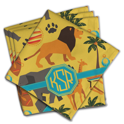 African Safari Cloth Napkins (Set of 4) (Personalized)