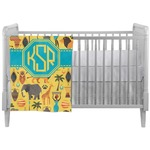 African Safari Crib Comforter / Quilt (Personalized)