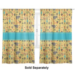 "African Safari Curtains - 56""x80"" Panels - Lined (2 Panels Per Set) (Personalized)"
