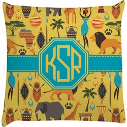 African Safari Decorative Pillow Case (Personalized)