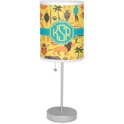 """African Safari 7"""" Drum Lamp with Shade (Personalized)"""
