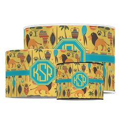 African Safari Drum Lamp Shade (Personalized)