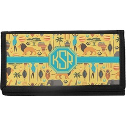 African Safari Canvas Checkbook Cover (Personalized)