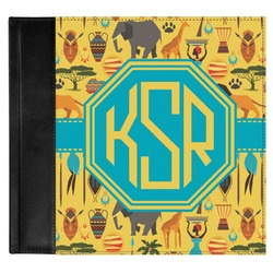 African Safari Genuine Leather Baby Memory Book (Personalized)