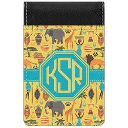 African Safari Genuine Leather Small Memo Pad (Personalized)