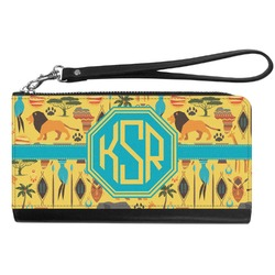 African Safari Genuine Leather Smartphone Wrist Wallet (Personalized)