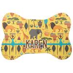 African Safari Bone Shaped Dog Food Mat (Personalized)