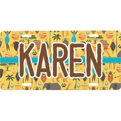 African Safari Front License Plate (Personalized)