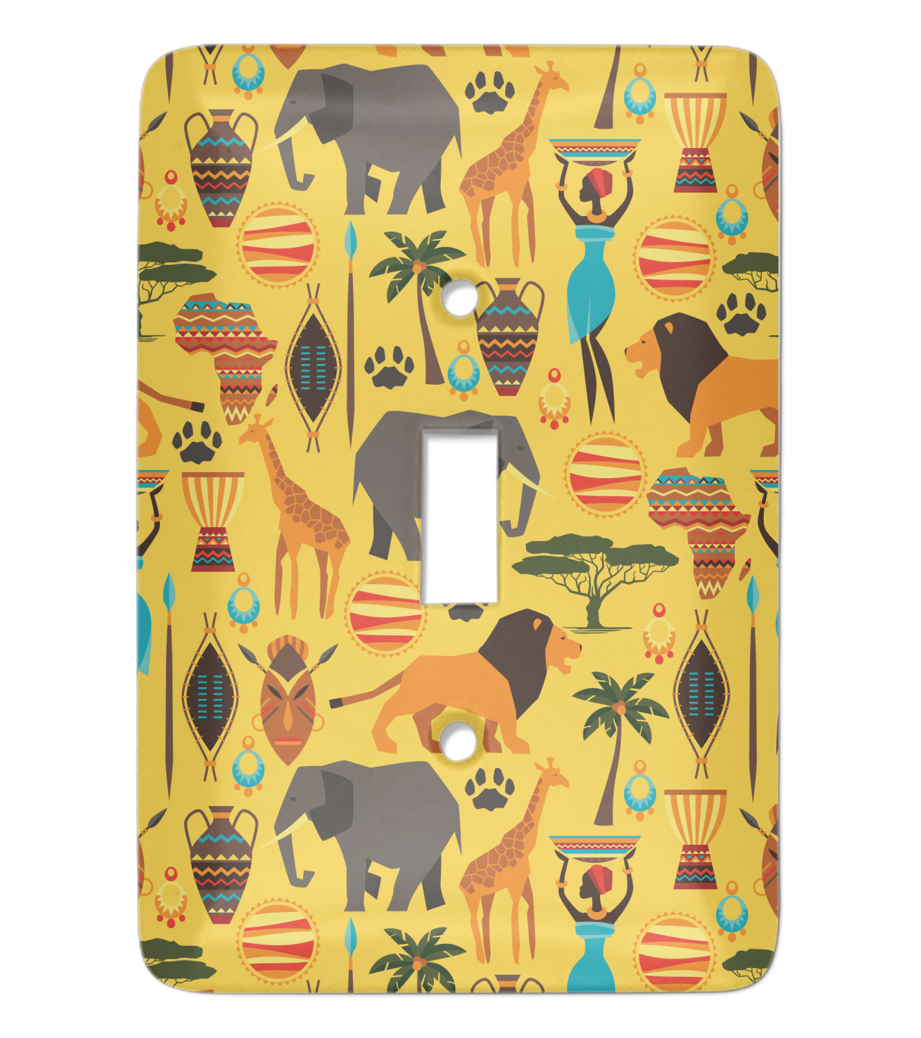 African Safari Light Switch Cover Single Toggle Personalized