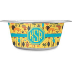 African Safari Stainless Steel Dog Bowl (Personalized)