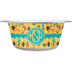 African Safari Stainless Steel Pet Bowl (Personalized)