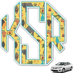 African Safari Monogram Car Decal (Personalized)