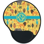 African Safari Mouse Pad with Wrist Support