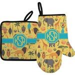 African Safari Oven Mitt & Pot Holder (Personalized)