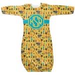 African Safari Newborn Gown (Personalized)