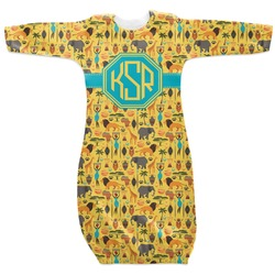 African Safari Newborn Gown (Personalized)