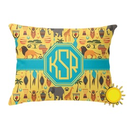 African Safari Outdoor Throw Pillow (Rectangular) (Personalized)