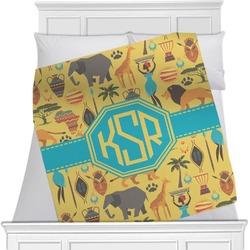 African Safari Minky Blanket (Personalized)