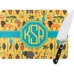 African Safari Rectangular Glass Cutting Board (Personalized)