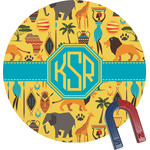 African Safari Round Magnet (Personalized)