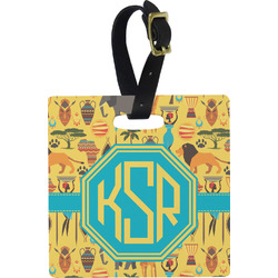 African Safari Square Luggage Tag (Personalized)