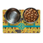 African Safari Dog Food Mat (Personalized)