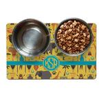 African Safari Pet Bowl Mat (Personalized)