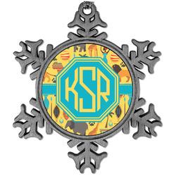 African Safari Vintage Snowflake Ornament (Personalized)