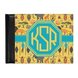 African Safari Genuine Leather Guest Book (Personalized)