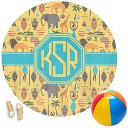 African Safari Round Beach Towel (Personalized)