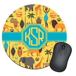 African Safari Round Mouse Pad (Personalized)