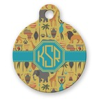 African Safari Round Pet Tag (Personalized)