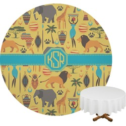 African Safari Round Tablecloth (Personalized)