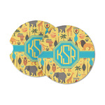 African Safari Sandstone Car Coasters (Personalized)