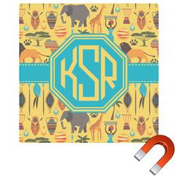 African Safari Square Car Magnet (Personalized)