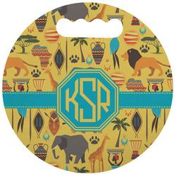 African Safari Stadium Cushion (Round) (Personalized)