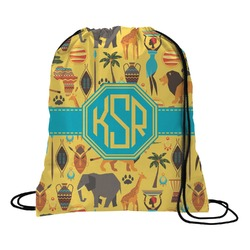 African Safari Drawstring Backpack (Personalized)