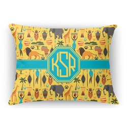 African Safari Rectangular Throw Pillow Case (Personalized)