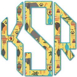 African Safari Monogram Decal - Custom Sized (Personalized)