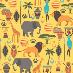 African Safari Wallpaper & Surface Covering