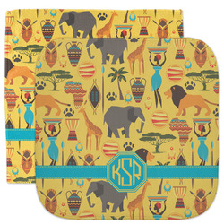 African Safari Facecloth / Wash Cloth (Personalized)