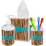 Tribal Ribbons Bathroom Accessories Set (Personalized)